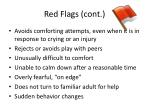 red flags cont