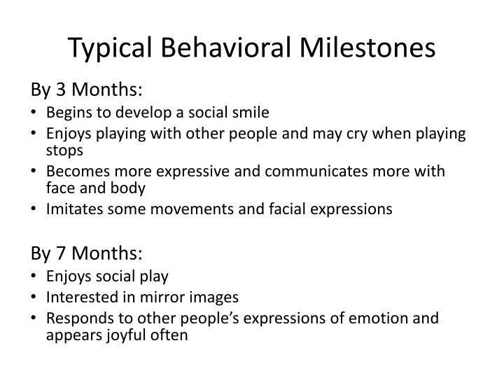 Typical Behavioral Milestones