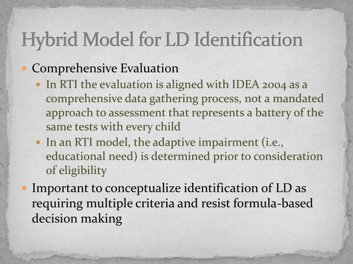 Hybrid Model for LD Identification