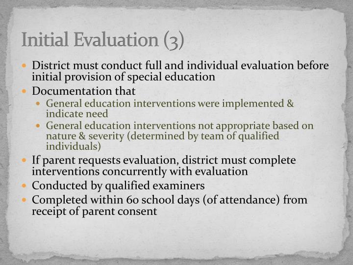 Initial Evaluation (3)