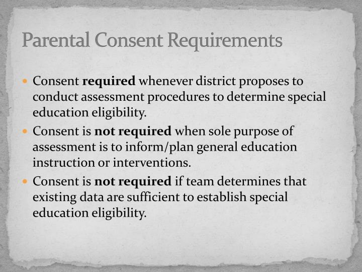 Parental Consent Requirements