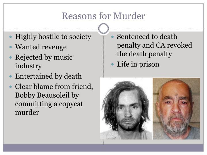 Reasons for Murder
