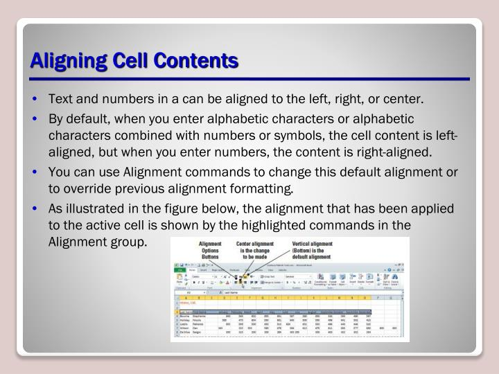 Aligning Cell Contents
