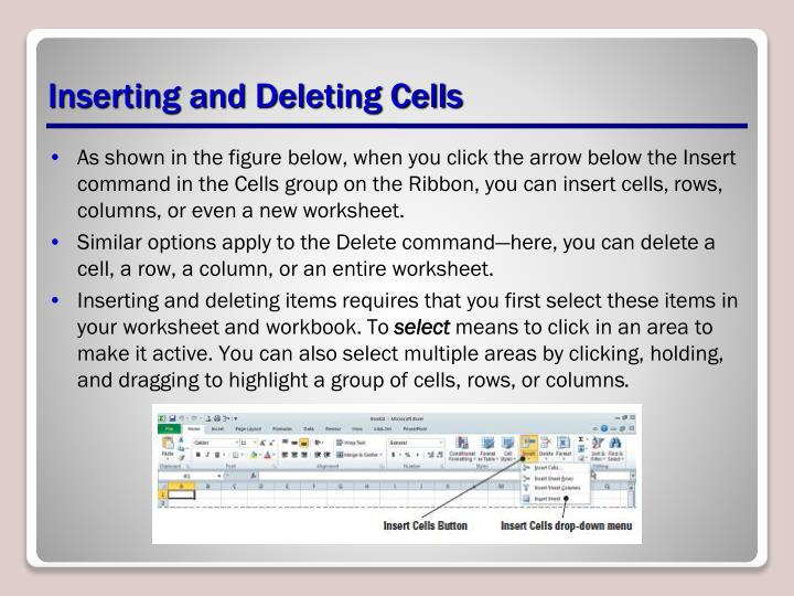 Inserting and Deleting Cells