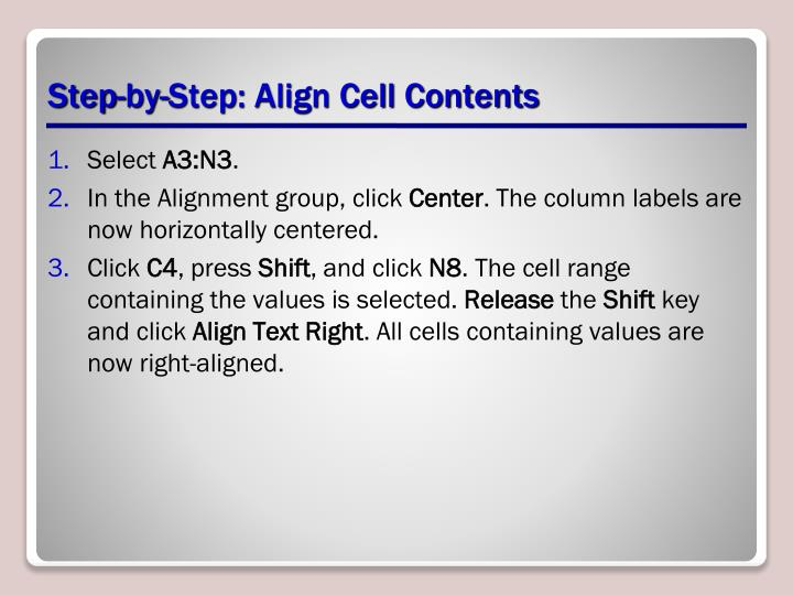 Step-by-Step: Align Cell Contents