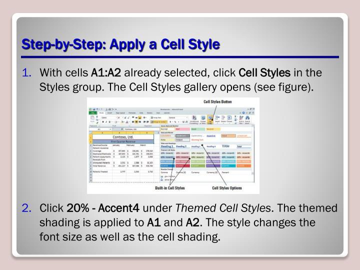 Step-by-Step: Apply a Cell Style