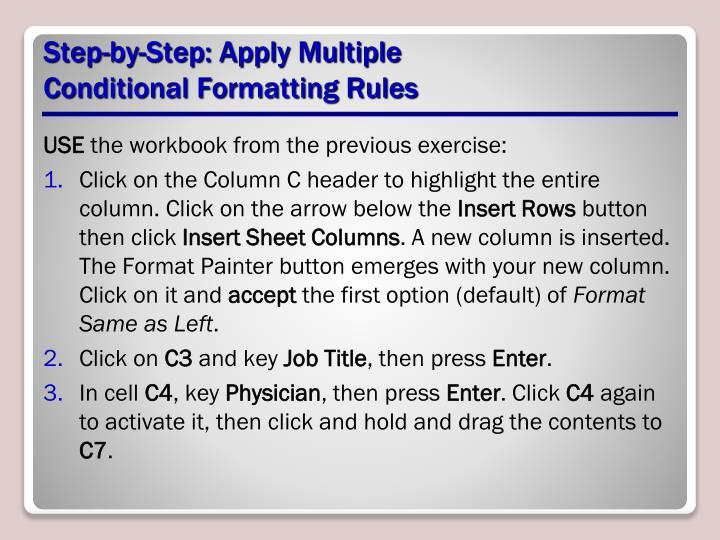 Step-by-Step: Apply Multiple