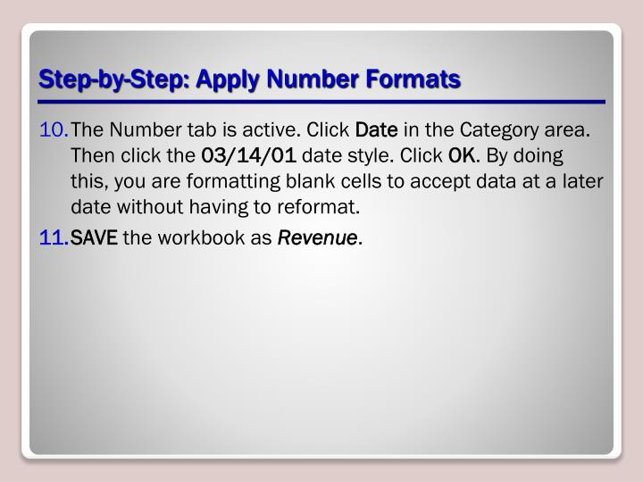 Step-by-Step: Apply Number Formats