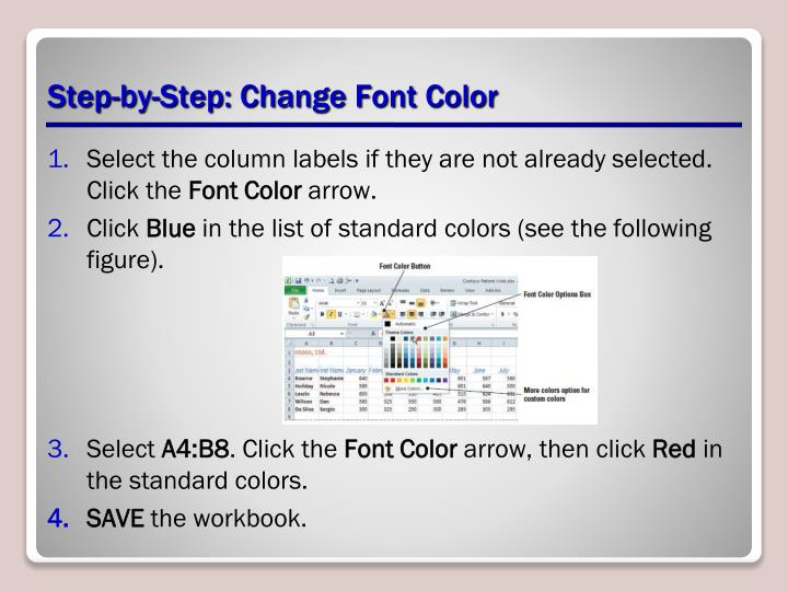 Step-by-Step: Change Font Color