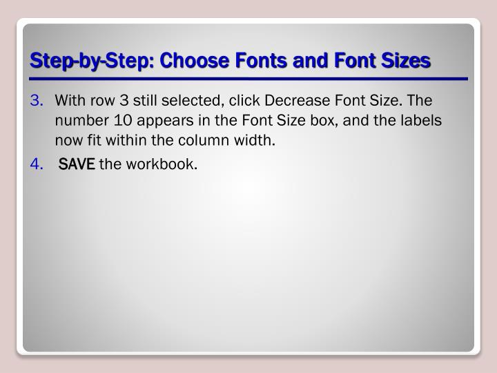 Step-by-Step: Choose Fonts and Font Sizes