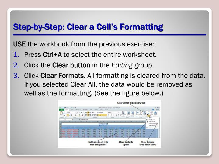 Step-by-Step: Clear a Cell's Formatting