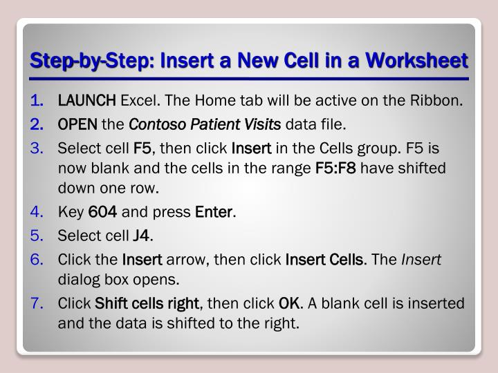 Step-by-Step: Insert a New Cell in a Worksheet