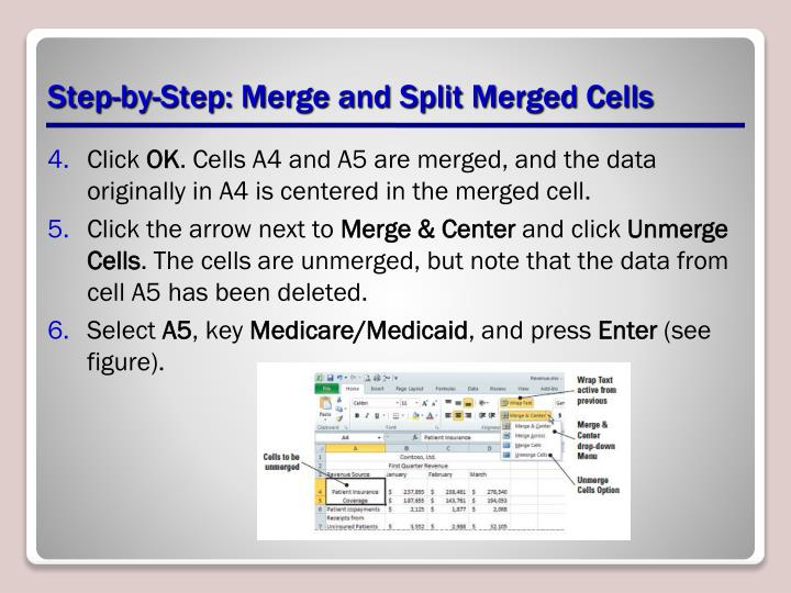 Step-by-Step: Merge and Split Merged Cells