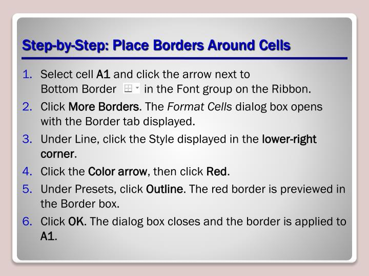Step-by-Step: Place Borders Around Cells