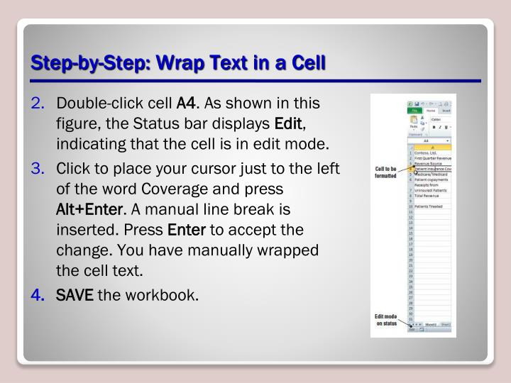 Step-by-Step: Wrap Text in a Cell