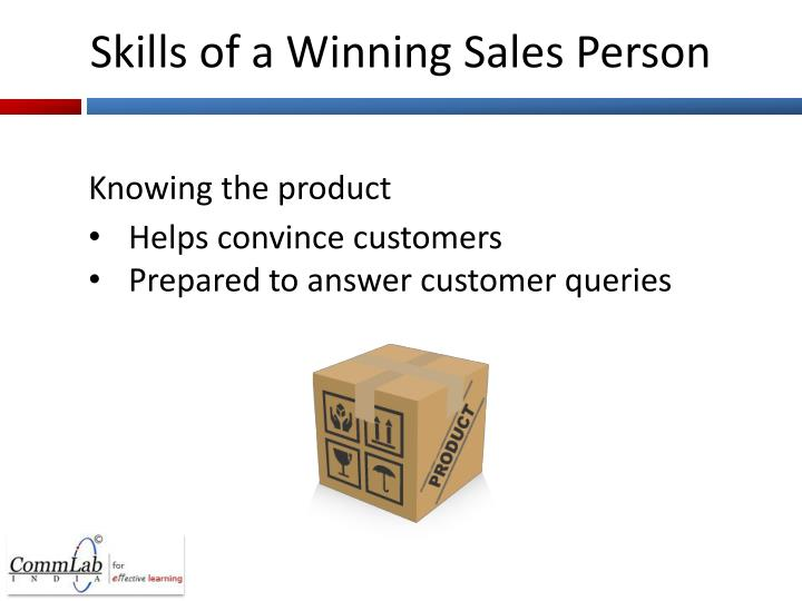 Skills of a Winning Sales Person