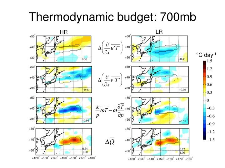Thermodynamic budget: 700mb