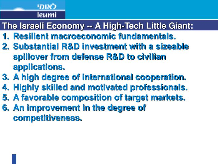 The Israeli Economy -- A High-Tech Little Giant: