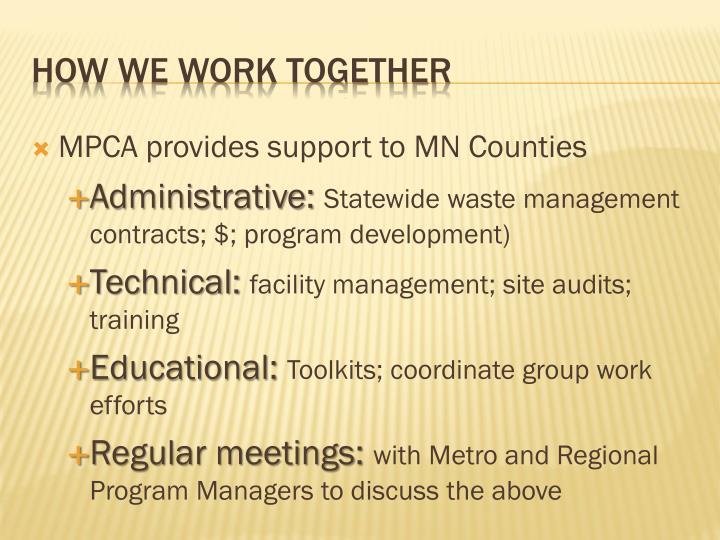 MPCA provides