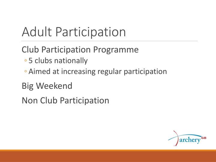 Adult Participation