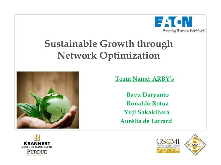 Sustainable Growth through