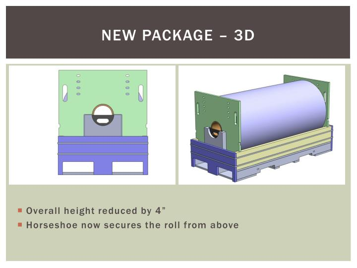 New package – 3d
