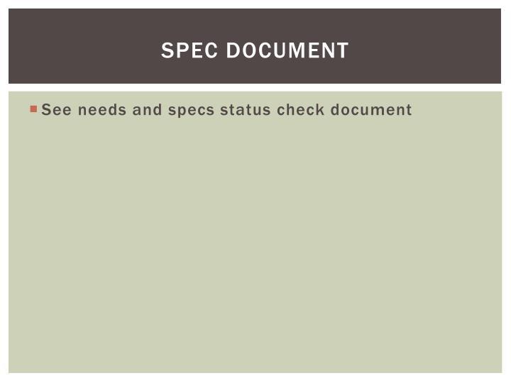 Spec document