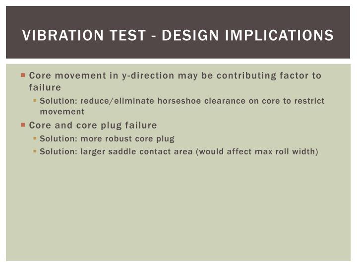 Vibration test - Design implications