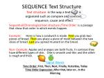 sequence text structure