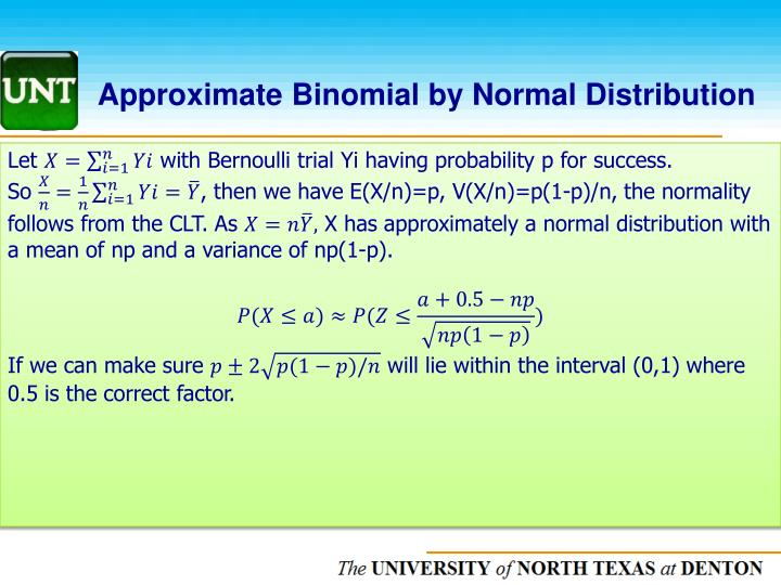 Approximate Binomial by Normal Distribution