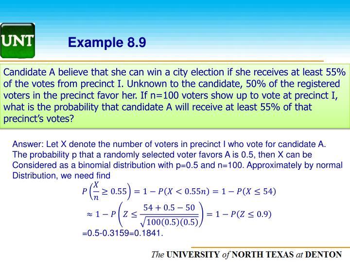 Example 8.9