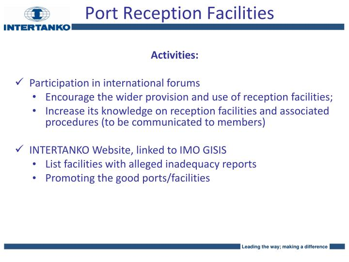 Port Reception Facilities