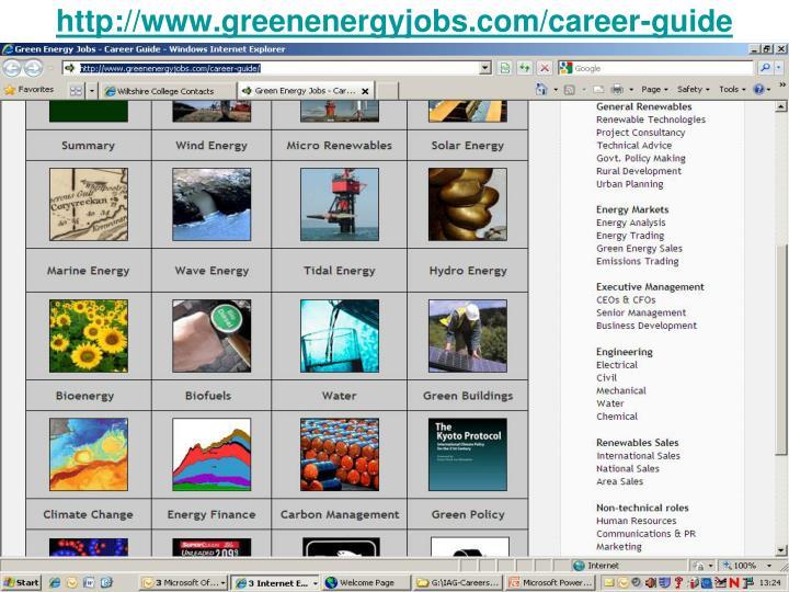 http://www.greenenergyjobs.com/career-guide