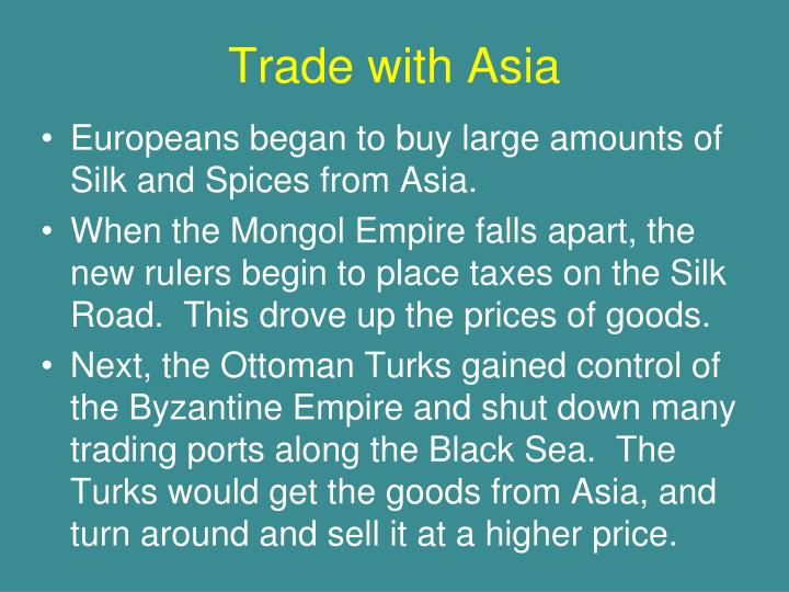 Trade with Asia