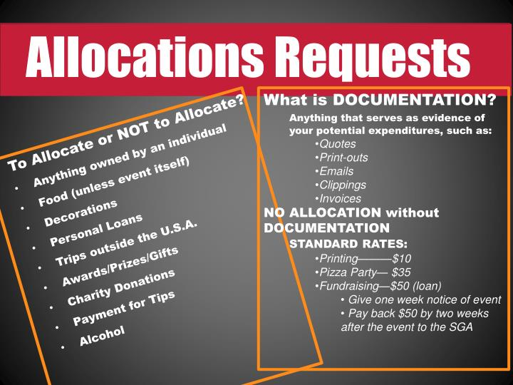 Allocations Requests