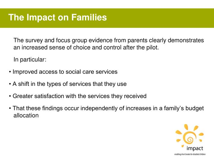 The Impact on Families