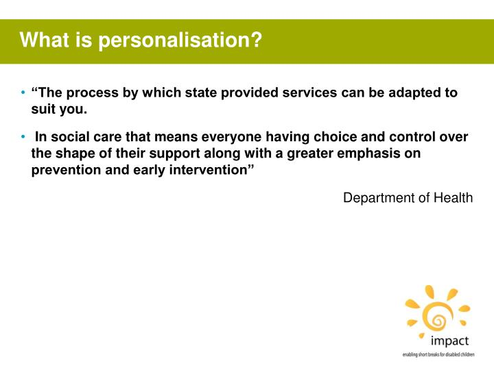 What is personalisation?