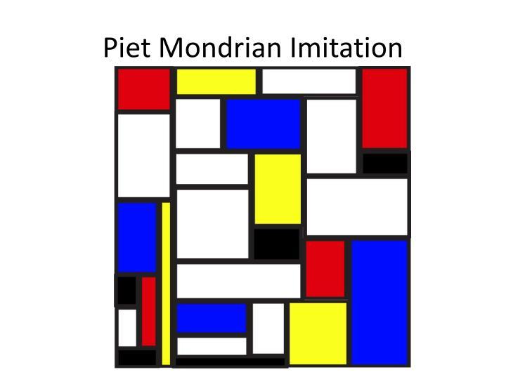 Piet Mondrian Imitation