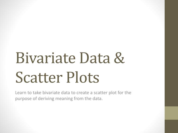 Bivariate data scatter plots