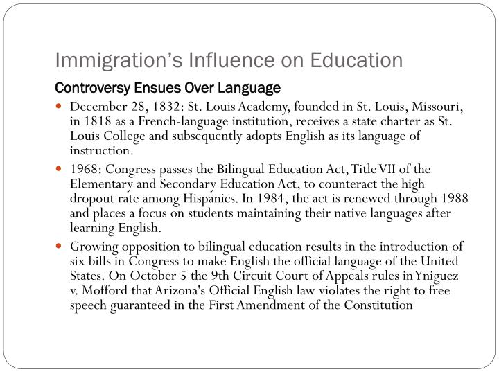 Immigration's Influence on Education