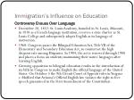 immigration s influence on education