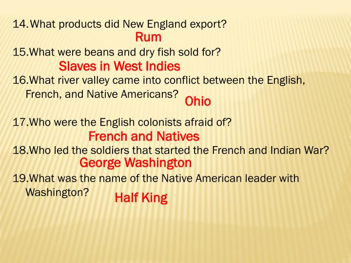 What products did New England export?