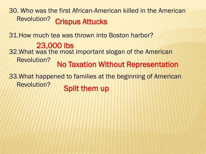 Who was the first African-American killed in the American Revolution?