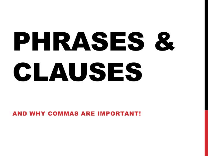 phrases clauses