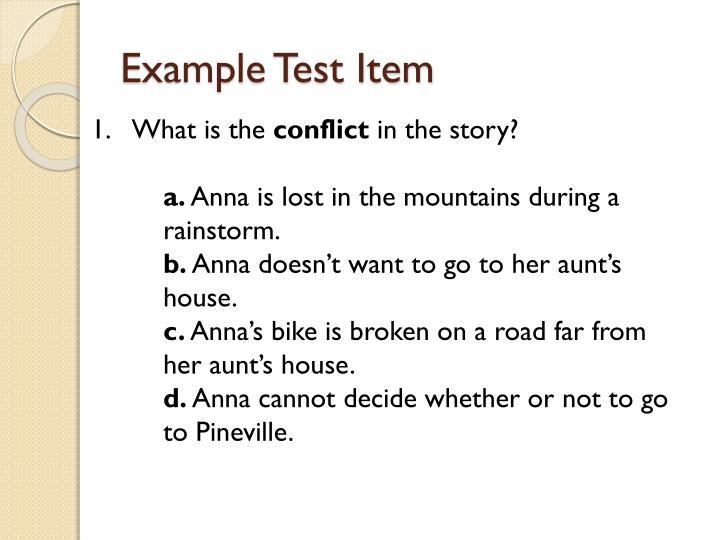 Example Test Item