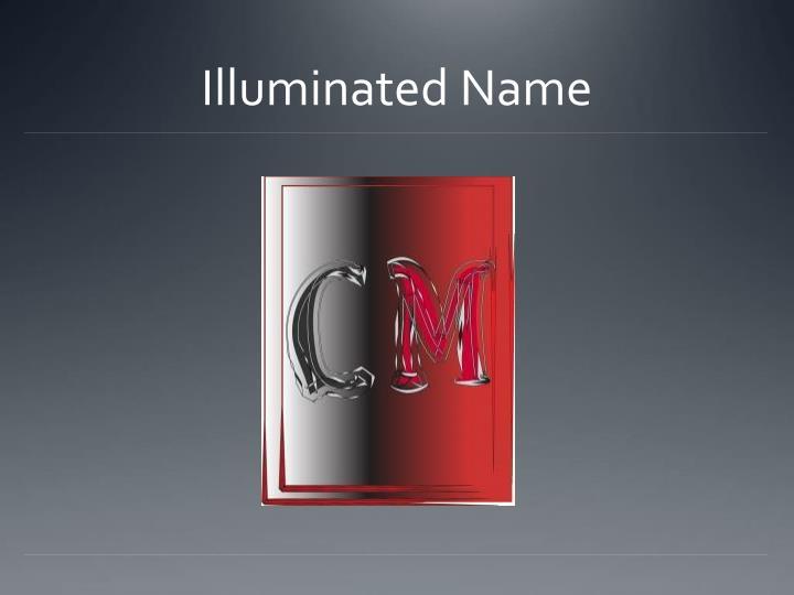 Illuminated Name