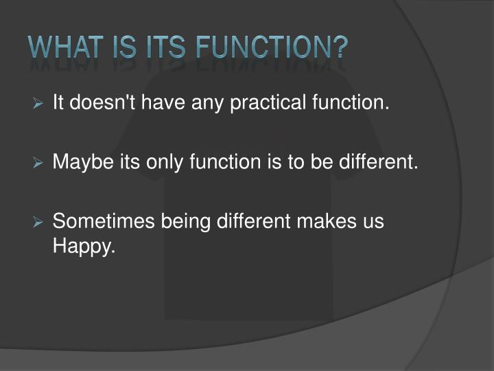 What is its function