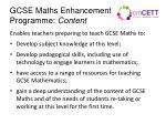 gcse maths enhancement programme content