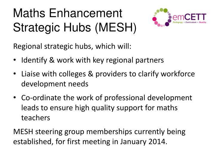 Maths Enhancement Strategic Hubs (MESH)