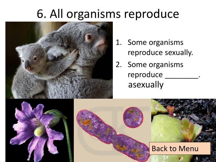 6. All organisms reproduce